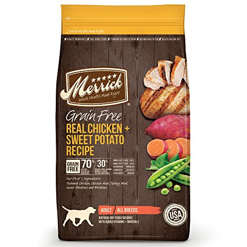 Merrick Grain Free Dry Dog Food Recipes, Chicken,...