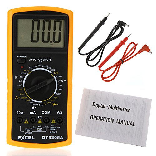Professionelle Elektrische Hand DT9205A AC/DC LCD Display Digital Multimeter Messgerät Tester Multitester Multimetro Amperemeter