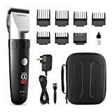 WONER Hair Clippers,Cordless Hair Trimmers,Beard Trimmers with Intelligent LED Display,13-piece Hair Cutting...