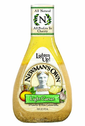 Newman's Own Salad Dressing Light Caesar, 16-Ounce (Pack of 3)