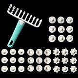 Msicoco 37 STÜCKE Multifunktions Nudeln Cutter Cookies Pie Teigrolle Küche Werkzeug Nudelschneider Fondant Kuchen Embosser