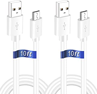 10FT 2Pack USB Power Extension Cable Cord for WyzeCam, Yi Camera, Oculus Go, Echo Dot Kid Edition, Nest Cam, Netvue, Arlo ...