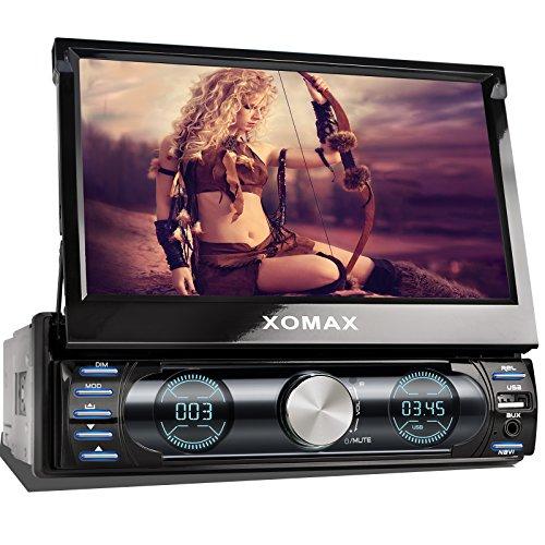 XOMAX XM-VRSUN729 Radio de coche / Autoradio 1DIN con Navegación GPS con Mapas de Europa (48 países) + Bluetooth Manos libres + 7 '/ 18 cm pantalla táctil HD de...