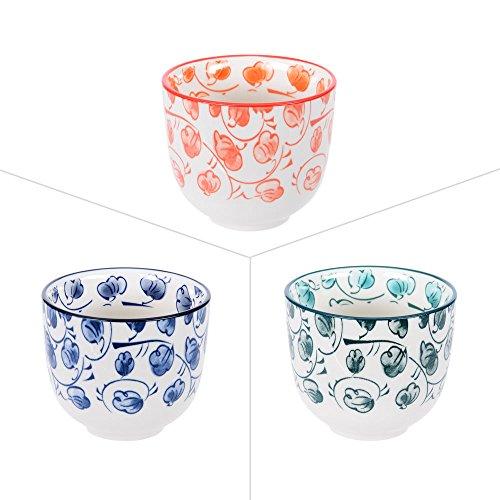 Table Passion - Gobelet à thé 10 cl 3 couleurs assorties (lot de 3)
