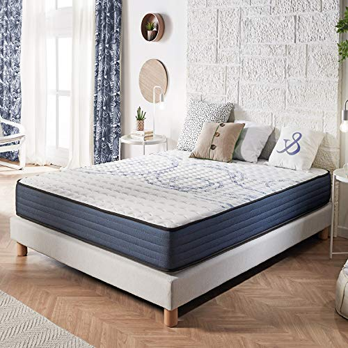 NATURALEX | Matelas Perfectsleep 140x190 Cm | Mousse A Mémoire Technologie Blue Latex Multi-Densité HR |...