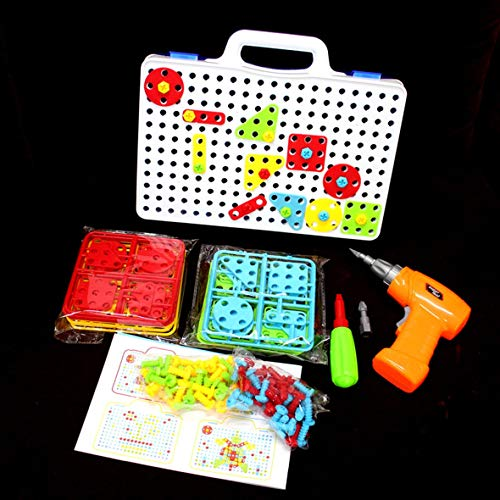 Heaviesk Spielzeug-Set Bohrmutter Demontage Match-Tool Bohrmaschine Puzzle montiert Puzzlesätze Kids Jigsaw Toy