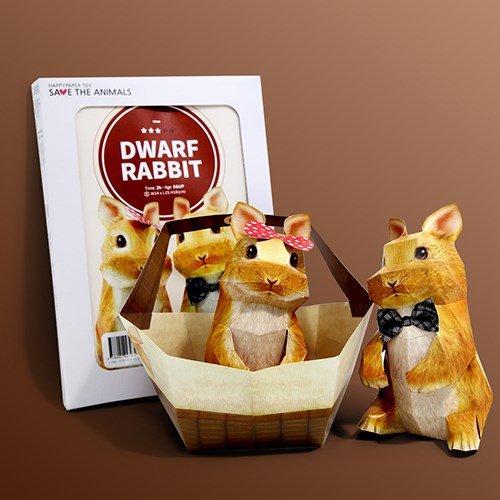 Papertoy - Dwarf Rabbit