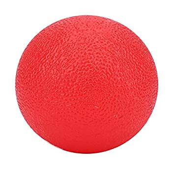 Silicone Stress Ball Therapy Hand Portable Lightweight Anti-Stress Ball for Adults Teens Hand Finger Strength Exercise Stress Relief Red