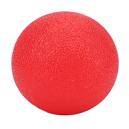 palla antistress Silicone stress Ball grip Hand Therapy Exercise Ball sollievo rinforzante palla per esercizi(Red)