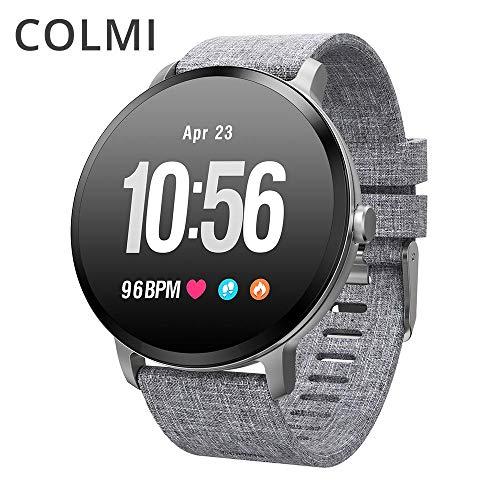 COLMI V11 Smart Watch IP67 Wasserdicht gehärtetes Glas Aktivitäts-Fitness-Tracker Pulsmesser Krempe Herren Damen Smartwatch (Smart Watch 1)