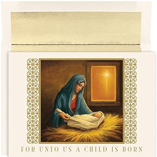 Masterpiece Studios For Unto Us, 18 Cards/18 Foil Lined Envelopes (883200)
