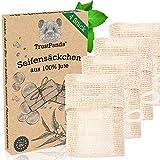 Seifensäckchen Bio hergestellt in Europa | 4 Stück Seifenbeutel aus 100% Jute alternative für...