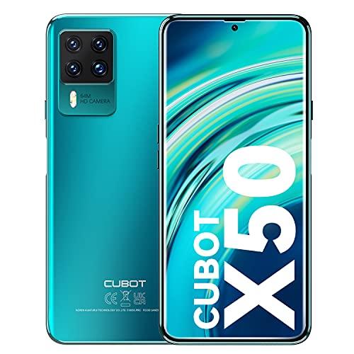 CUBOT X50 Cellulari Offerte, 8GB RAM + 128GB ROM 256GB Android 11 Smartphone, 6.67 Pollici FHD+ Cellulare, 4500 mAh Octa Core, Quad Camera 32MP + 64MP 4G Telefono Dual SIM, Face ID, NFC, GPS (verde)