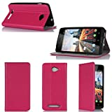 Etui luxe Archos 45 Helium 4G / 45B Helium 4G rose Ultra Slim Cuir Style avec stand -...