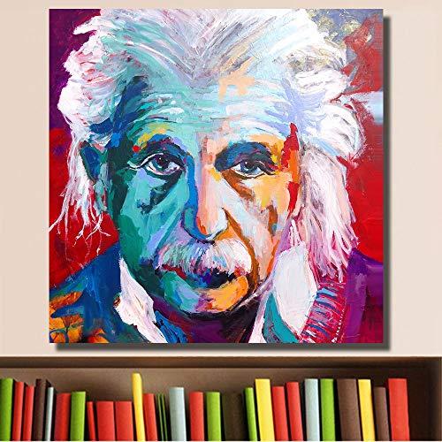 Frameloze foto portret abstracte pop art print op canvas of woonkamer foto muur kunst frameloze schilderij <> 60x90cm