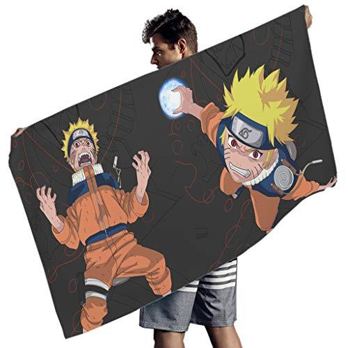 Generic Branded Uzumaki Naruto Toalla de playa grande Toalla de natación de secado rápido, ligera para niños y adultos, 150 x 75 cm
