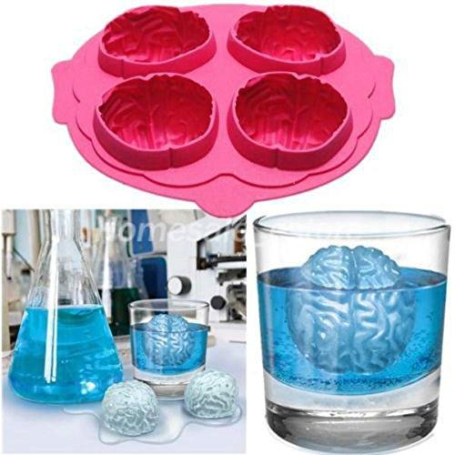 Gehirn-Eis-3D-Form Silikonform Kuchenwerkzeuge Ausstecher Eisformen Sahneform Kochwerkzeuge