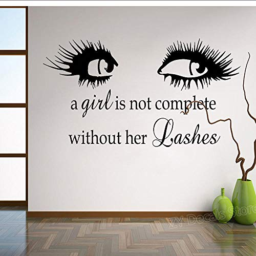 Wimpernpflege Wandaufkleber Wimpernverlängerung Augenbrauen Augenbrauen Aufkleber Wandbild Schönheitssalon Wohnzimmer Wohnkultur 76X42Cm