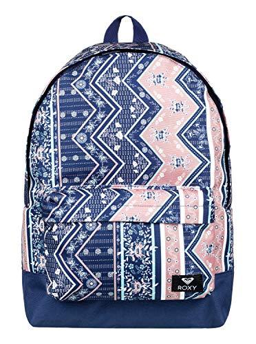 Roxy Damen Sugar Baby Backpack, med Blue Newport Border sw, 1SZ