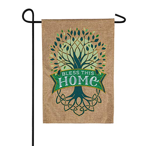 Celtic Tree of Life Garden Burlap Flag - 13 x 1 x 18 Inches