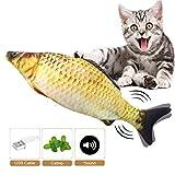 Catnip Giocattoli per Gatti, Giocattoli Elettrici per Pesci, Simulazione Peluche di Pesce, Giocattolo interattivo per Gatti, da mordere e Masticare, Pulizia dei Denti del Gatto, Giocattoli per Gatto