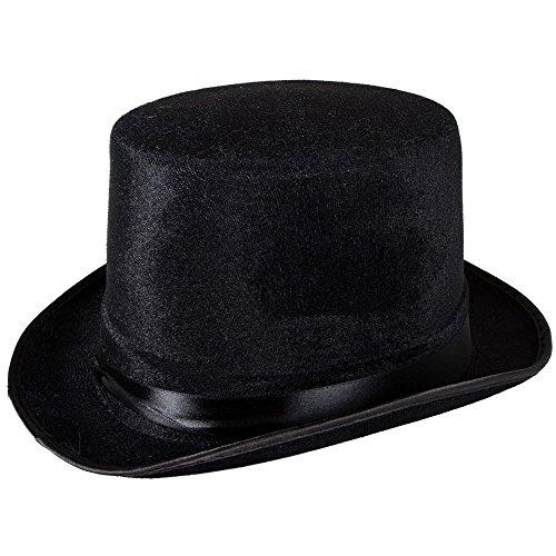 TaoNaisi Sombrero de copa negro terciopelo