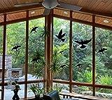 Anticolisión ventana alertas pájaros pegatinas siluetas para proteger las aves y la puerta de cristal (12 unidades)