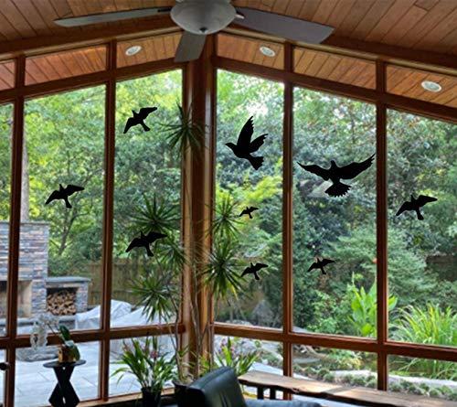 Anti-Kollisions-Fensteralarm, Vogel-Aufkleber, Silhouetten, hält Vögel und Glastürschutz (12 Stück, schwarz)