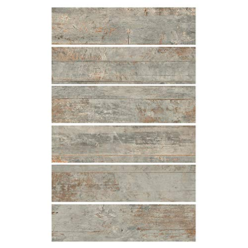 6x24 Country Ocean Porcelain Plank Wood-Look Field Tile Floor (Sold by Piece)