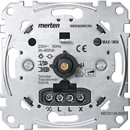 Merten MEG5139-0000 Universele draaidimmer-inzet, 20-600 W/VA