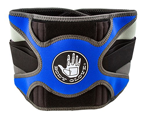 Body Glove Relief Lumbar Compression Support Hot & Cold Therapy Back Support Belt for Back Pain (Blue, Small)