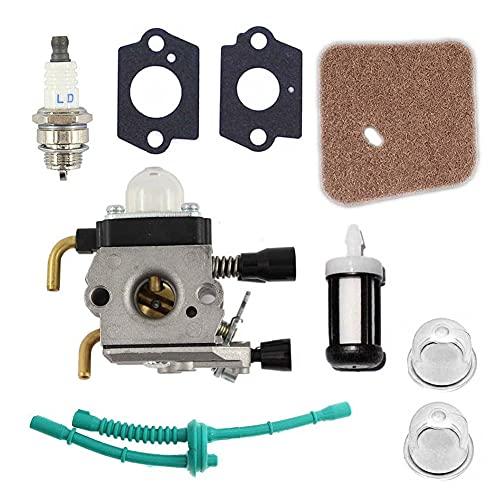 PYLTT Kraftstoffleitungsvergaser-Kit für Stihl FS38 FS45 FS55 Rasentrimmer Unkrautfresser Rasenmäher Kraftstoff-Stabilisatoren