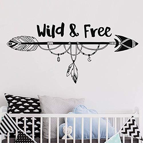 Wilde und kostenlose Pfeil Wandaufkleber für Kinderzimmer Kinderzimmer Schlafzimmer Sweet Home Decor Vinyl Decals Poster Wandbilder 57 * 123Cm