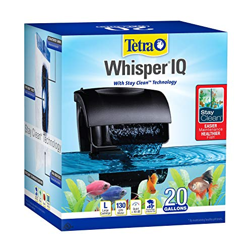 Tetra Whisper IQ Power Filter 20 Gallons, 130 GPH, with Stay Clean Technology