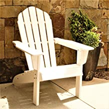 ResinTEAK HDPE Poly Lumber Adirondack Chair, White   Adult-Size, Weather Resistant for Patio Deck Garden, Backyard & Lawn Furniture   Easy Maintenance & Classic Adirondack Chair Design…