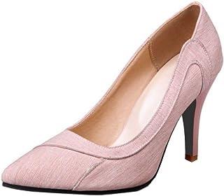 SJJH Escarpins élégants pour femme avec talons Stiletto Pointe Toe Grandes tailles Chaussures de danse