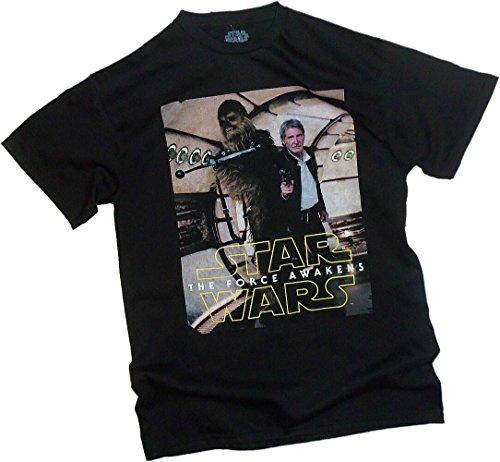 Han & Chewie - Home! - Star Wars Ep VII: Das Erwachen der Macht Erwachsene T-Shirt -  Schwarz -  Klein
