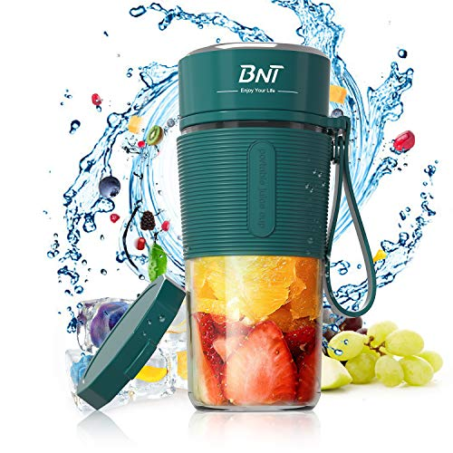 Portable Blender, 15.9oz Personal Blender for Shakes and Smoothies, Personal Size Blender for Sports,Gym,home and office with Travel Blender Cup and Extra Lid,BPA-Free (Green)