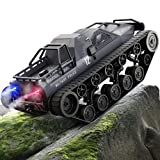 Bwine Q111 Remote Control Crawler, 1:12 Scale Spray RC Tank High Speed, All Terrain Off-Road RC Trucks with 2 Batteries for 45+ Min Play, 360° Rotating Drift RC Cars, Gifts for Kids & Adults