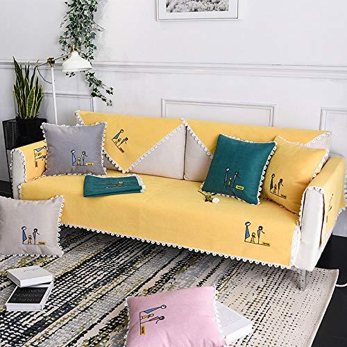 B/H Tejido Poliéster Poliéster Sofa Cubre,Funda de sofá Universal de Color sólido, Funda de sofá Simple-B_110 * 160cm,poliéster y Elastano Funda sofá