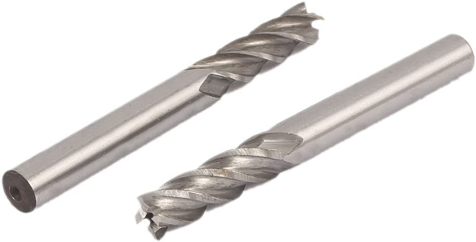 uxcell Now on sale 1 25% OFF 4 Inch Cutting Dia End Straight Shank HSS-AL M Flutes