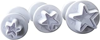 Mini 3-Piece Star Small Fondant Plunger Cutter Set Cake Cookies Decorating Tool Mold-Tiny