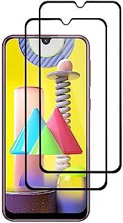 [قطعتان] واقي شاشة شفاف عالي الوضوح ومقاوم للخدش لهاتف سامسونج جالكسي ام 31 مصنوع من الزجاج المقسى بدرجة صلابة 9 اتش
