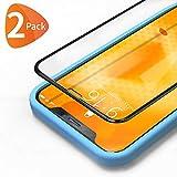 Bewahly Vetro Temperato iPhone XS Max/11 PRO Max [2 Pezzi], 3D Copertura Completa 9H Durezza Pellicola Protettiva in Vetro Temperato con Kit di Installazione per iPhone XS Max (6,5 Pollici) Nero