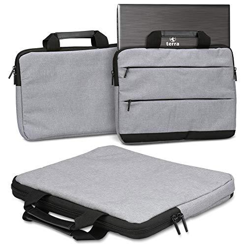 Beschermhoes compatibel met Terra Mobile 1550 Laptop Tas Sleeve Case Notebooktas Hoes Cover in grijs of blauw, grijs (grijs)
