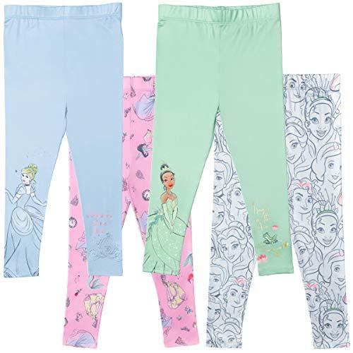 Disney Princess Toddler Girls 4 Pack Leggings Multicolor Tiana Cinderella 3T