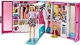 Barbie Armario de ropa muñeca con 25 accesorios de moda (Mattel...
