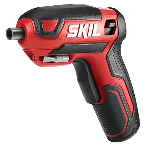 Skil Rechargeable 4V Cordless Screwdriver, Includes 9pcs Bit, 1pc Bit Holder, USB Charging Cable - SD561801