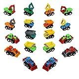 TONZE Coches de Juguetes Camion Vehículos de Construcción Mini...