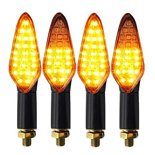 4 unids LED de giro señal de giro e4 señales de giro de la motocicleta incorporada relé fluyendo iluminación flash 20LED impermeable a prueba de motocicletas Blinker (Color : 4PCS)